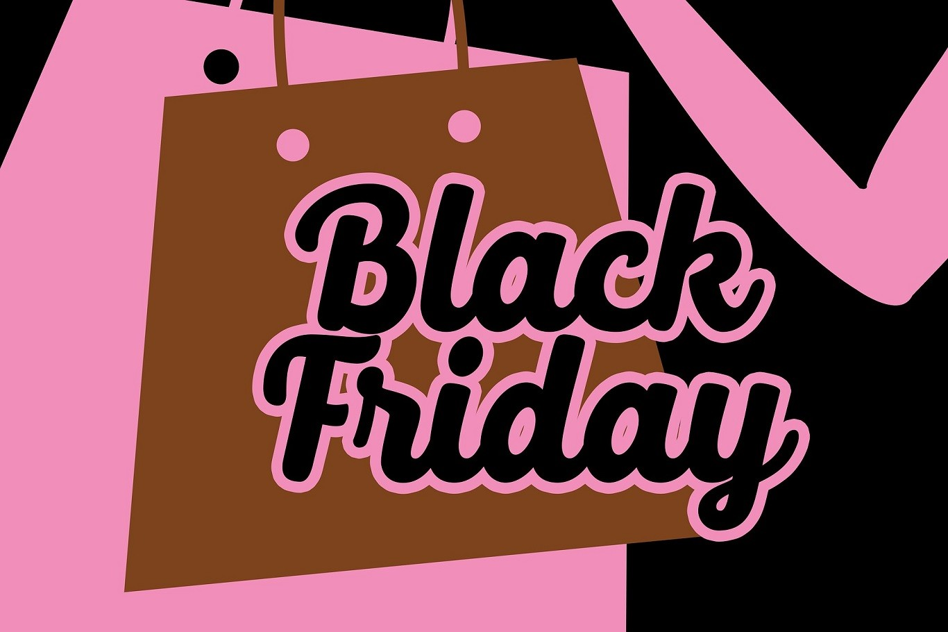Banner Black Friday con Shopping Bag
