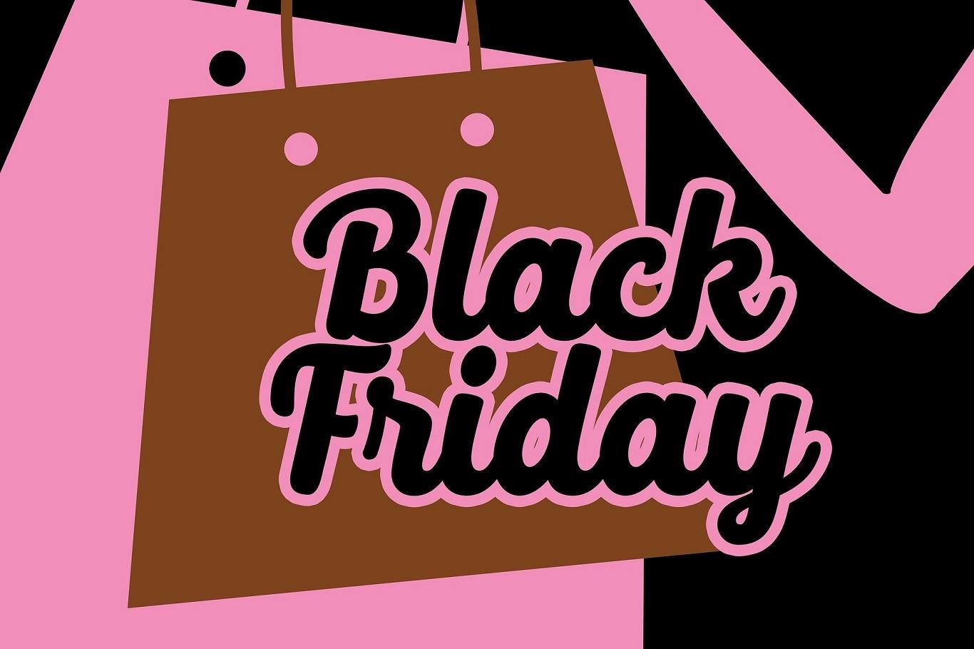 Banner Black Friday con Shopping Bag